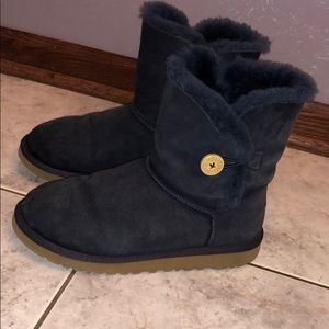 UGG Bailey Button Boot in navy
